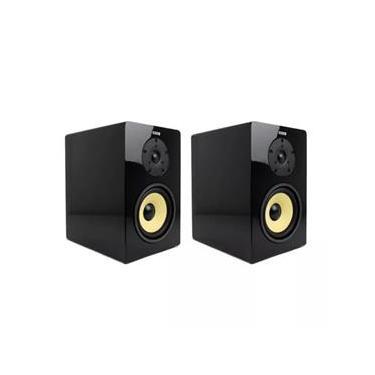 Caixa Acústica Bookshelf AAT BSF-100B Bi-amplificada (Par) Preto