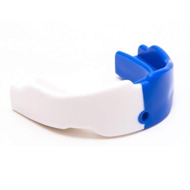Protetor Bucal Simples Prof. Sem Estojo Colorido Punch Unissex Único Branco E Azul
