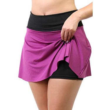 Short Saia Fitness Feminino (Roxo, G)