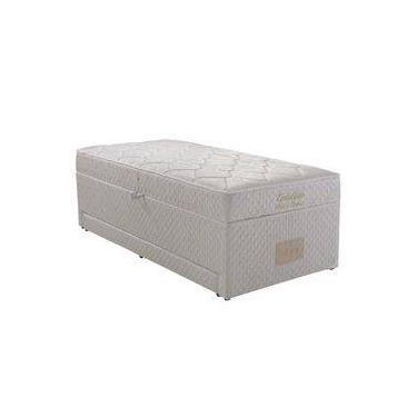 04ad7f3ab Box Conjugado Solteiro Baú e Cama Auxiliar Herval Evolution Mola Bonnel  Tecido Jacquard Branco