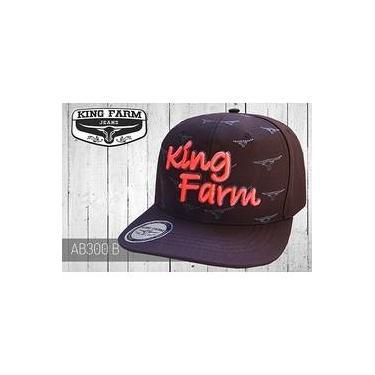 Boné King Farm Aba Reta Rosa AB300B