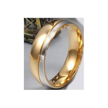 77619d2d9a622 Aliança Namoro Compromisso Banhada A Ouro 18 Prata E Masculina Cr401