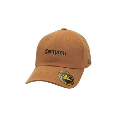 Boné Overking Aba Curva Dad Hat Strapback Compton Caramelo