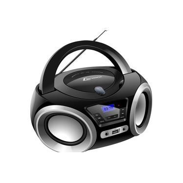 Boombox Rádio Portátil Lenoxx 5W BD 1370 Preto - Bivolt