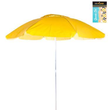Guarda-Sol PVC/Alumínio 2,00m Amarelo Fluxo