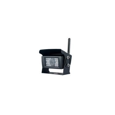 Truck Wireless WiFi backup Câmara de visão traseira 120 graus ir Night Vision Waterproof reverso Camera Monitor retrovisor câmera de estacionamento Truck Bus Van Parking System (Black)