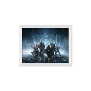 Poster de Halo 5 Com Moldura - Branco