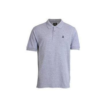 Camisa Polo Básica Masculina Broken Rules - Cinza d87293c103b