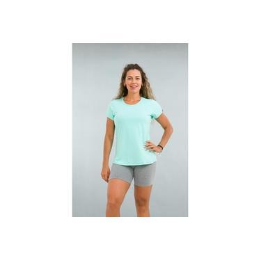 Camiseta Feminina Fitness Verde Turquesa Lean
