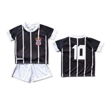 Conjunto Infantil Torcida Baby Corinthians Camisa+ Calção Micro Dry  Sublimado b8a6b4e863d4b