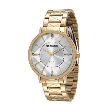 1209cbd4e8f Relógio Seculus Feminino Analógico Dourado 23580LPSVDS1