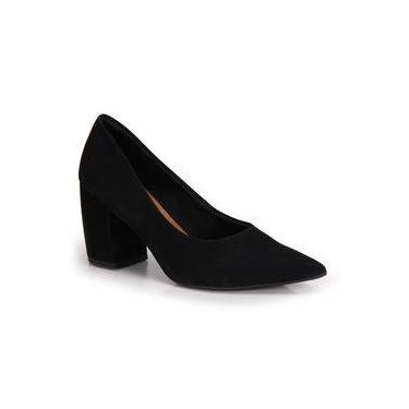 a651566fa9 Sapato Scarpin Salto Grosso Conforto Usaflex