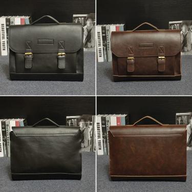 Retro homens saco PU couro homens bolsas casuais negócio laptop saco mensageiro sacos escritório saco Banggood
