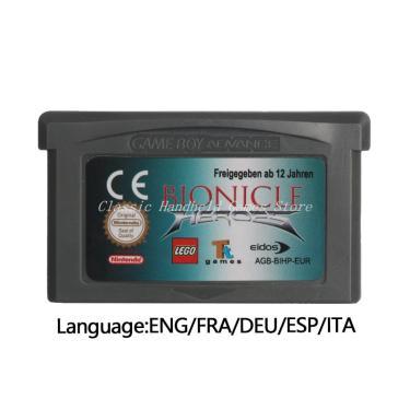 Imagem de Versão da ue do cartão do console do cartucho do jogo de vídeo dos heróis bionicle para nintendo gba