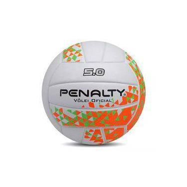 Bola de Vôlei Penalty 5.0 VIII - Branco e Laranja ae671be0a9687