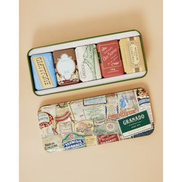 granado kit de sábonetes vintage 5 x - 120g Feminino GRANADO RÓTULOS U