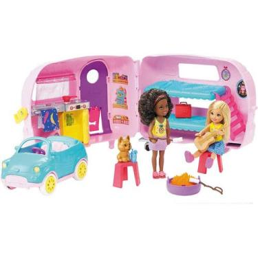 Boneca Barbie E Veículo - Trailer Da Chelsea - Mattel