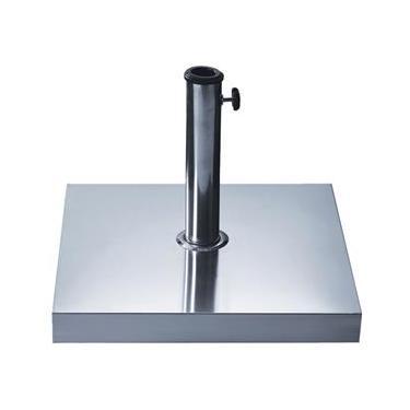 Base Quadrada para Ombrellone 30kg com Revestimento em Aço Inox 27500 - Belfix