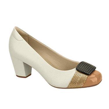 Sapato Modare Bicolor Fivela Marrom - 7323.103 cor:branco;tamanho:40