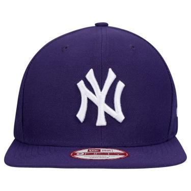 485190640 Boné Snapback New York Yankees New Era BON363 - Roxo
