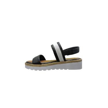 Sandália Pietra Manzolli C/ Corda Detalhe Dourado  Preta  feminino