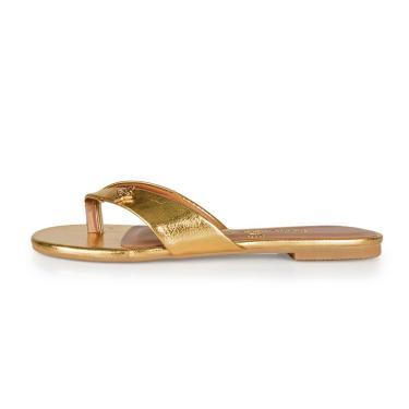 Rasteira Helen Paula Brazil Shoes Store 6026-13197 Napa Dourado  feminino