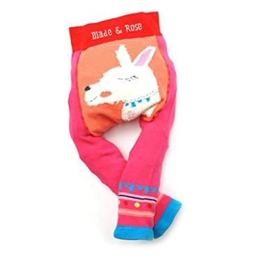 Meia Calça Legging Infantil Lhama 2-3 anos, Blade and Rose, Rosa