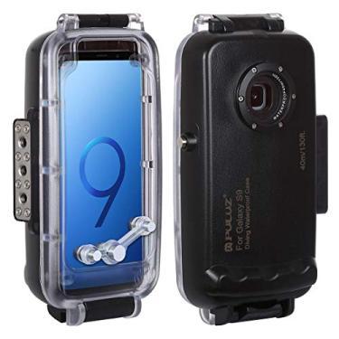 Capa impermeável para smartphone PULUZ 40 m / 130 pés para Samsung Galaxy S9 Android 8.0 Deep Sea Diving Case suporta à prova de choque e neve, proteção IP68 à prova de sujeira (preta para Galaxy S9)