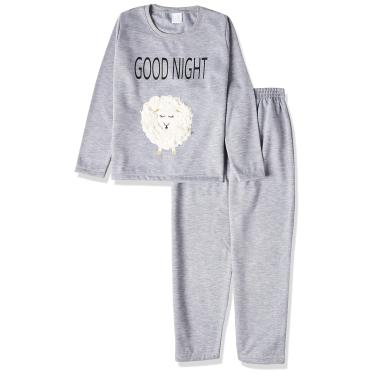 Conjunto de pijama , Pzama, Meninas, Cinza, 6