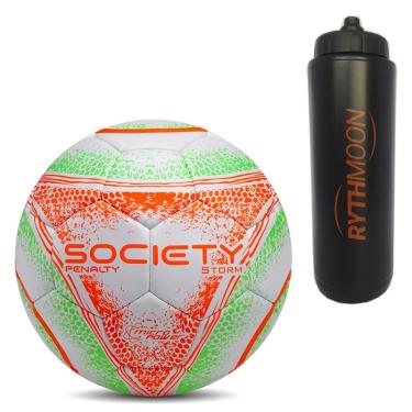 183c977274 Kit Bola Society Storm CC Mao VIII Penalty Branco Verde Laranja + Squeeze  Automático