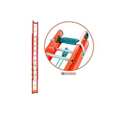 Imagem de Escada Extensiva de Fibra de Vidro 22 Degraus 4,20 x 7,20 Metros EF4.2 FIBERMAX