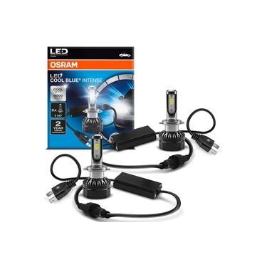 Par Lâmpadas LED Osram Cool Blue H7 6000K 25W 12V Tonalidade Branca Aplicação Farol