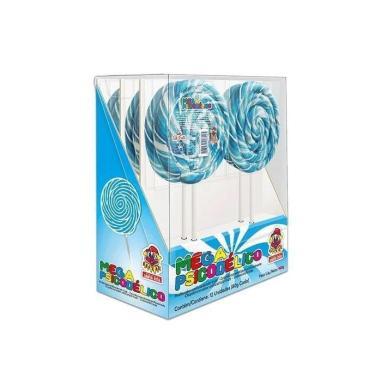 Pirulito Gigante Azul Psicodélico Coloridos Festas Crianças