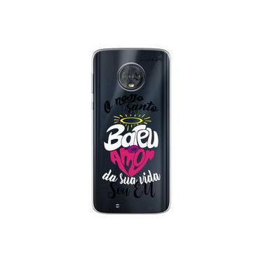 Capa para Moto G6 Play - O nosso santo bateu
