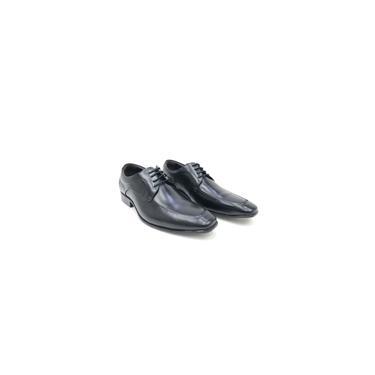 Imagem de Sapato democrata social bico quadrado cadarço colors masculino couro