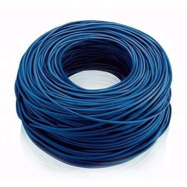 Cabo De Internet Utp Cat5e Azul 100 Metros + 100 Conectores