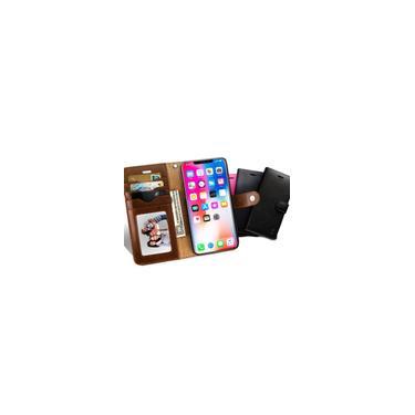 Capa de couro pu magnético multifuncional empresarial com slots de cartão Carteira de corpo inteiro à prova de choque capa protetora para iPhone X / xs / xr / xs Max / 7/8/7 Plus / 8 Plus / 6 / 6S / 6 Plus / 6S Plus / 5 / 5S / se