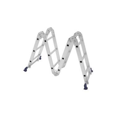 Escada de Alumínio Articulada 4x3 12 Degraus e 8 Posições MOR