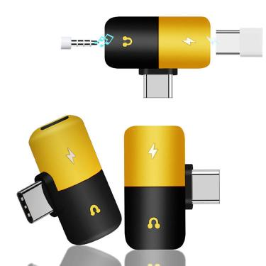 Bakeey Dual Headphone 2 em 1 Audio Jack Type-C Adaptador Divisor Conversor de Áudio para Samsung Banggood