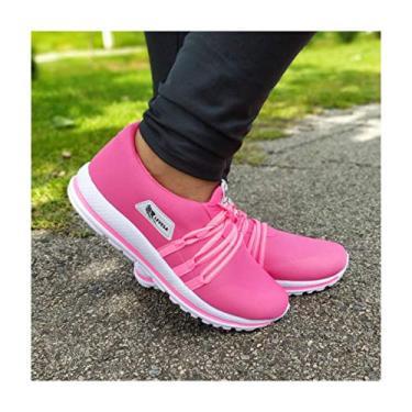 Imagem de Tenis feminino confortável para caminhada academia moda verão barato original Levesa Shoes (36)