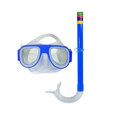 Kit Mergulho Natação Infantil Óculos E Snorkel