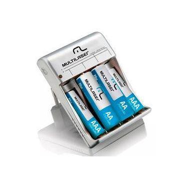 Carregador De Pilhas Multilaser AA/AAA+ 8 Pilhas - CB093