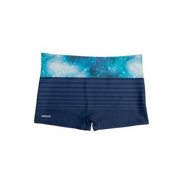 Sunga Boxer Colcci Listrada Azul - CL3.46