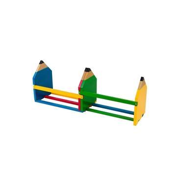 Separador De Livros Infantil Carlu Lápis Colorido