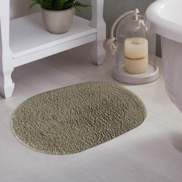 Imagem de Tapete De Banheiro Oval Myssi Taupe - Corttex