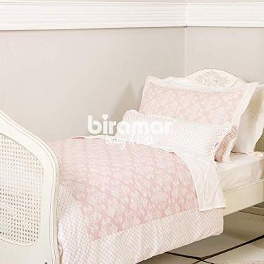 Imagem de Kit Cama Solteiro 3 Peças Jardim Secreto Arabesco Rosa (Colchão 1, 88 x 0, 88), Biramar Baby, Rosa