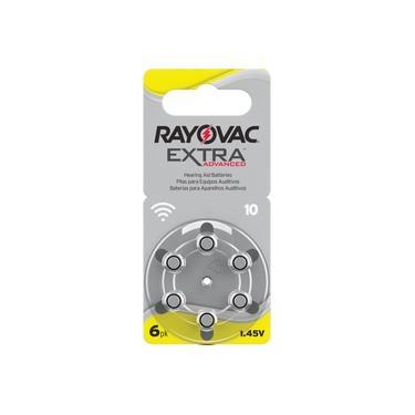 Pilhas/baterias Aparelho Auditivo Tam.10 Bl.c/06 Rayovac