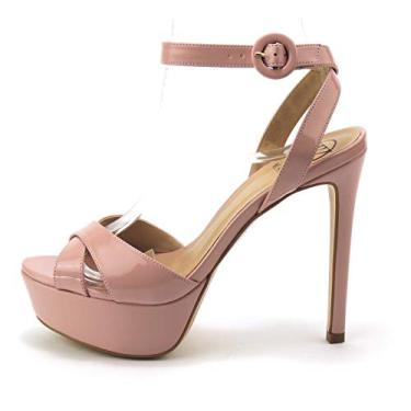 Sandália Got Sin? - Britney - salto alto plataforma - rosa claro - by Werner (35, Preto) (37)
