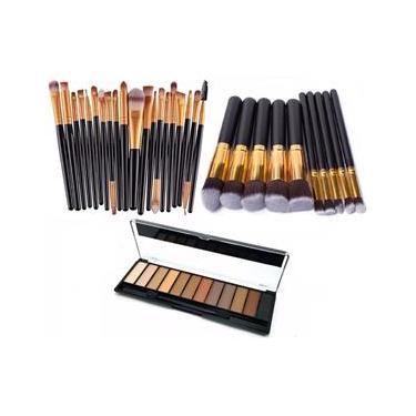 Pincéis Para Maquiagem com Sombra Belle Angel Kit 30 Peças