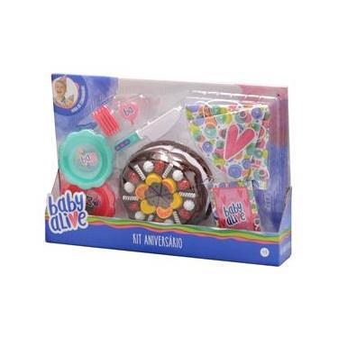 Acessórios bonecas - Kit aniversário Baby Alive - Toyng Toyng